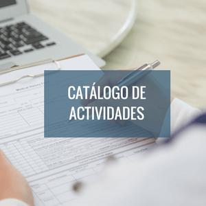 Catálogo de actividades