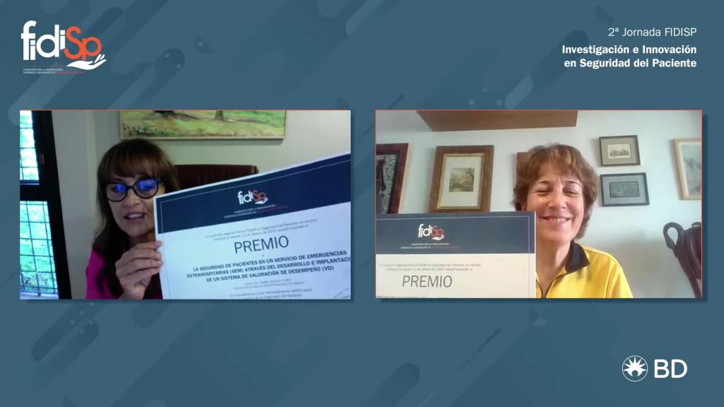 II Premio FIDISP en Seguridad del Paciente-entrega