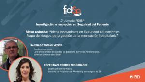 Santiago Tomas y Esperanza Torres-2ª Jornada FIDISP Investigación e Innovación en Seguridad del Paciente